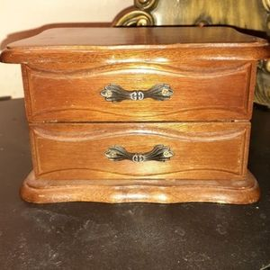 Accessories - Small Vintage Wooden jewelry box